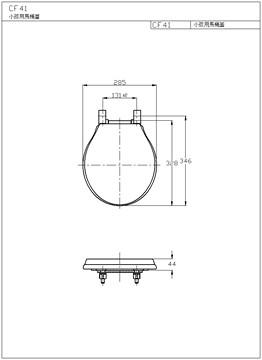 马桶盖安装图纸