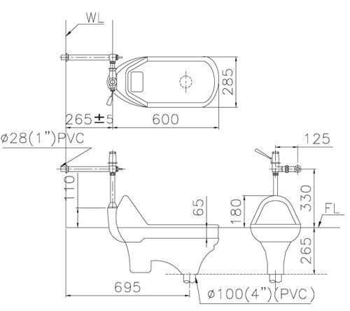 脚踏马桶开关的结构图
